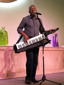 David Jams the Tunes with his Keytar